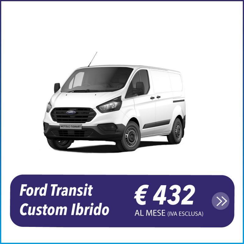 Ford Transit Custom Ibrido Diesel Cassone ribaltabile noleggio a lungo termine