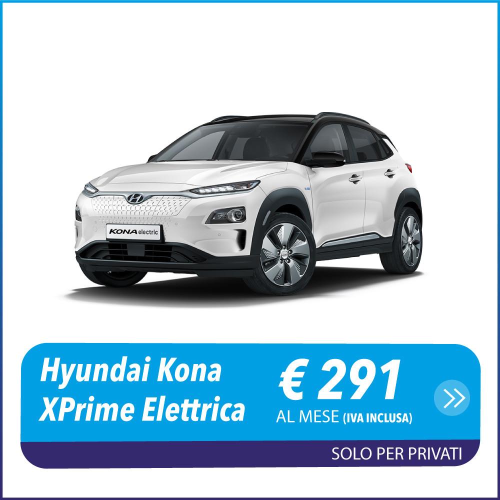 Hyundai Kona EV XPrime 39Kwh Elettrica Noleggio a lungo termine privati