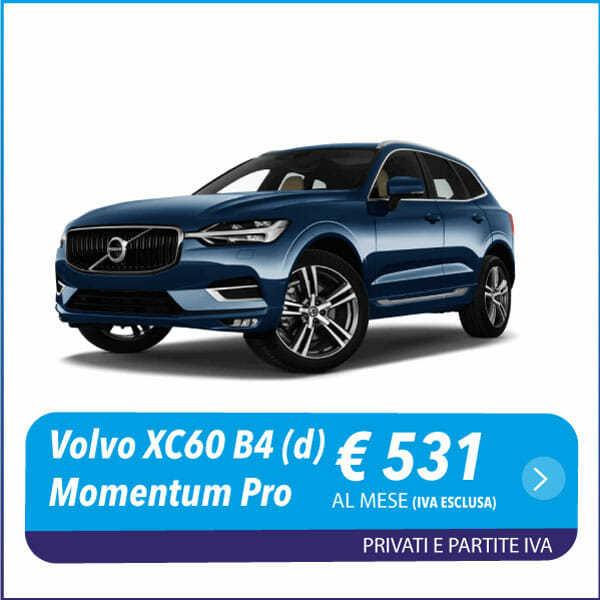 Volvo XC60 B4 (d) Geartronic Momentum Pro nlt noleggio a lungo termine